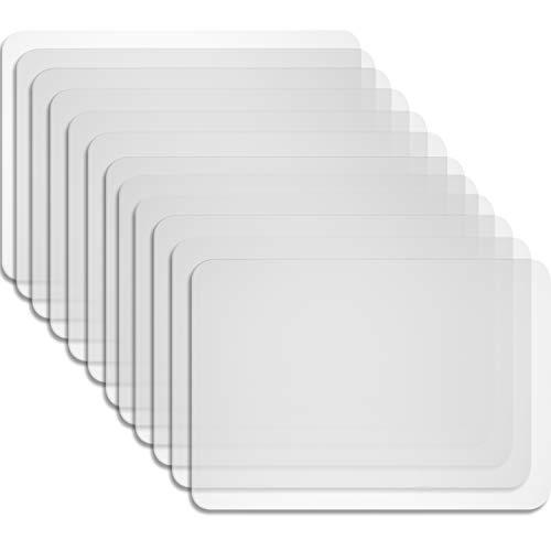 Boao 12 Stück Kunststoff Tischsets Tisch Matte Hitzebeständige Tischsets Esstisch Matten für...