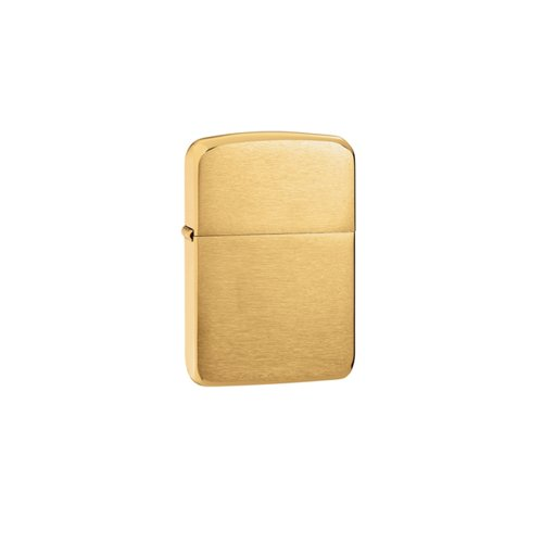 Zippo Zippo 1941 Replica Brushed Brass Laser Engraving On Backside
