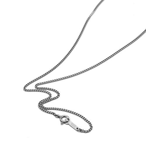 [ルビイ] プラチナ Pt850 2面カット喜平 チェーン ネックレス 幅1.4mm 長さ45cm