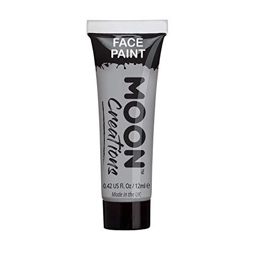 Moon Creations Face & Body Paint, Grey, 12ml Single