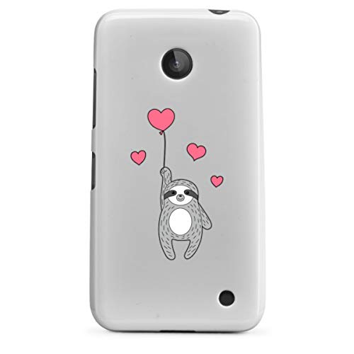 DeinDesign Silikon Hülle kompatibel mit Nokia Lumia 630 Hülle weiß Handyhülle transparent Faultier Liebe