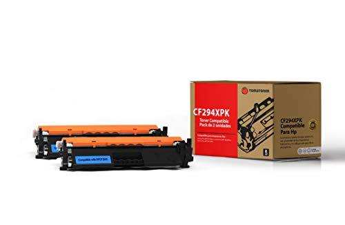Tomatoner - Pack de 2 Toners - Compatible para HP 94X CF294X (con Chip actualizado) Cartucho De Tóner Negro Compatible para Laserjet Pro MFP M148dw / M148fdw / M118dw (2800 Páginas)