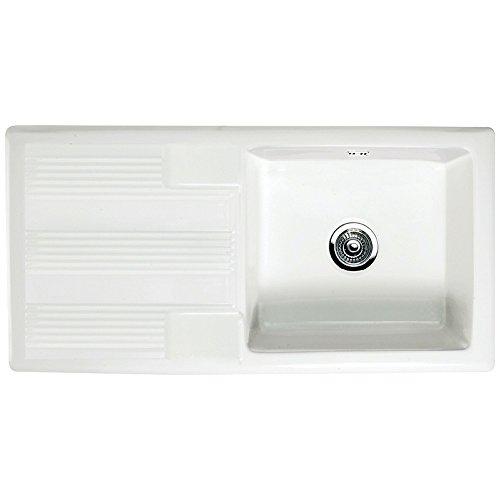 RAK Ceramics New Gourmet Sink 4 Reversible 1.0 Bowl White Ceramic Kitchen Sink
