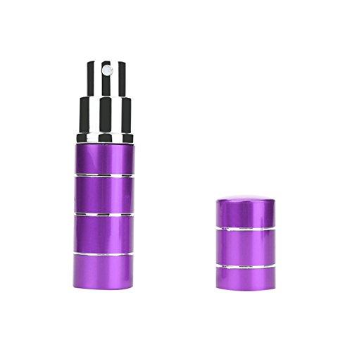 ECYC® Bouteille Miniature Mini Spray En MéTal 10ml Avec Etui à Pompe De Parfum, Violet