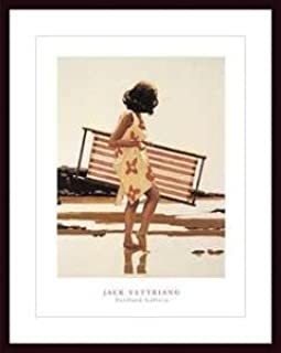 Art Poster Wood Framed Print - Sweet Bird of Youth II (vertical) - Artist: Jack Vettriano- Poster Size: 23 X 31