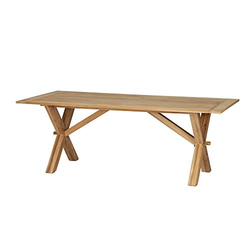 Siena Garden Dining Tisch Almada, 210x95x74cm, Gestell: Teakholz, in natur, Tischplatte: Teakholz, FSC 100%