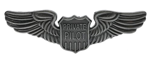 Sujak Military Items Private Pilot Aviator Wings Large 3 inch Hat Pin Antiqued Silver Tone hat pin HON16140
