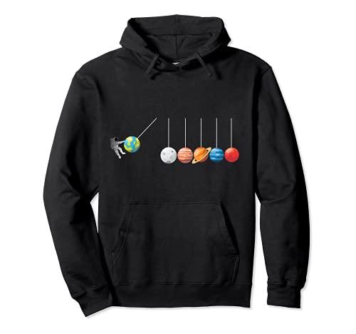 Divertida camiseta de astrofísico Planeta Péndulo de Newton Sudadera con Capucha