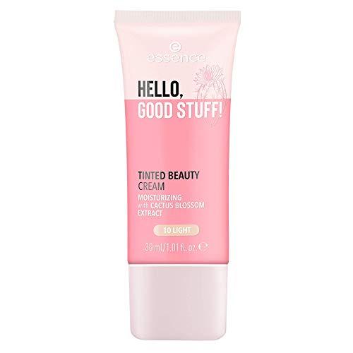 essence HELLO, GOOD STUFF! TINTED BEAUTY CREAM, MakeUp, Foundation, Nr. 10 light, nude, pflegend, mattierend, natürlich, vegan, ölfrei, entspricht unserem CLEAN BEAUTY Standard (30ml)