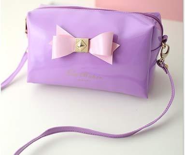 Chaton de correction de trois couleurs portant le sac de maquillage multi-fonctionnel femelle mignone de coeur de coeur de coeur de sac de sac de voyage de changement de voyage