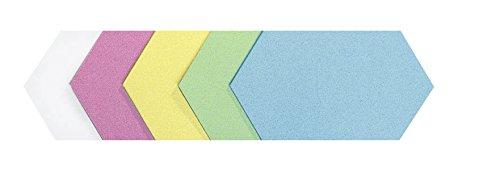 Legamaster 7-256699 Moderationskarten Königswaben, 100 Stück, 16,5 x 29,5 cm, 5-farbig sortiert
