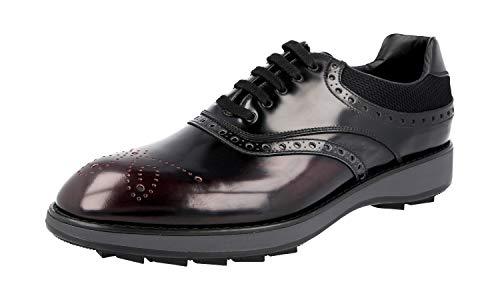 Prada Herren Braun Budapester Leder Business Schuhe 2EE260 44 EU/UK 10