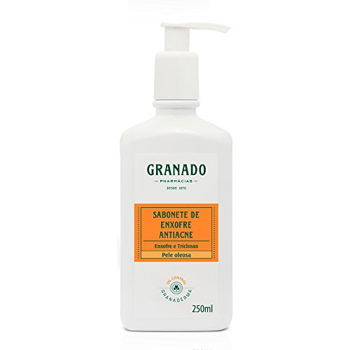 Sabonete Líquido de Enxofre Antiacne, Granado, Laranja, 250ml