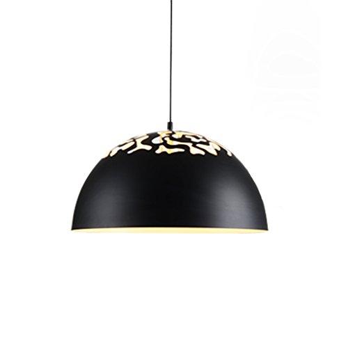 MEGSYL single ijzeren plafondlamp, moderne eenvoudige industriële stijl kunst kroonluchter, woonkamer restaurant balkon decoratieve verlichting kroonluchter, 1 lichtbron halfronde hanglamp, high helderheid creatieve plafondlamp, zwart