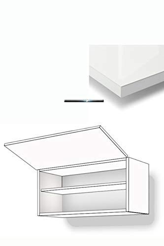 Premium-Ambiente BARRH46 Hängeschrank 1-klapptürig Fachboden 36cm hoch Gaszylinderdämpfer Softclosing inkl. Montageschiente Hochglanz (Breite 60cm, 86 Bianco)