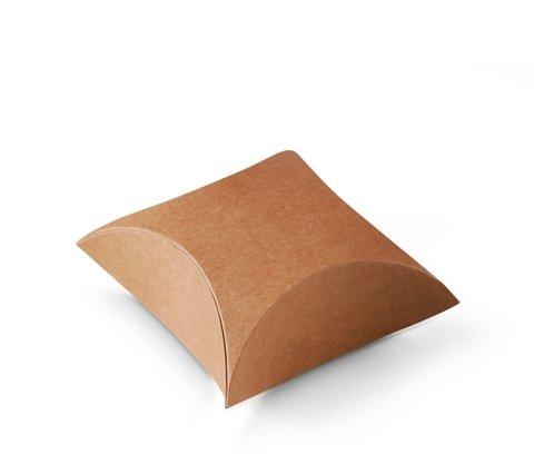 Selfpackaging Caja Regalo joyería o Tiendas. Muy económica y Original. Color Kraft. Pack de 50 Unidades - S