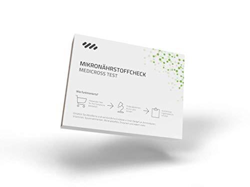 Medicross Mikronährstoff-Analyse – Professioneller Check zur Ermittlung des Mikronährstoff-Status, unkomplizierte Haaranalyse zum Selbsttest von zu Hause, detaillierter Laborbericht