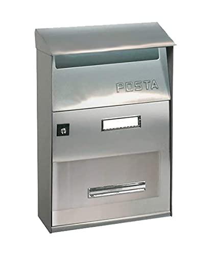 Kippen 10005HS Cassetta Postale Modello Next, Colore Silver, Argento, Misure: 320x220x100 mm