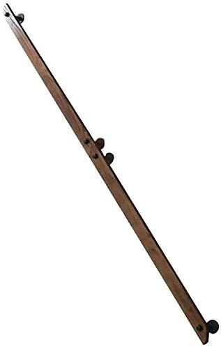 Main courante en bois for les escaliers - Kit complet moderne Minimaliste haute résistance en bois Main courante Barre d'appui, supports compris, bois droit for Main courante Escalier Rénovation (4 pi