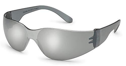 Gateway Starlite SM Safety Glasses - Gray Temple - Silver Mirror Lens
