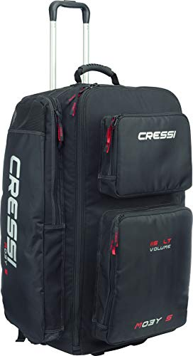 Cressi Strong Large Capacity Trolley Bag 115L with...