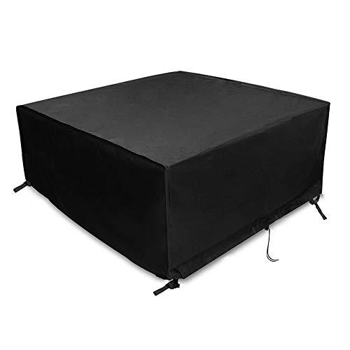 Ranikeer Housse Table de Jardin, Bâche de Protection en 420D Tissu Oxford Couverture Étanche Anti-UV Antipoussière pour Salon Canapé Chaises Meuble à l'Extérieur Patio Terrasse, 200 x 160 x 70cm