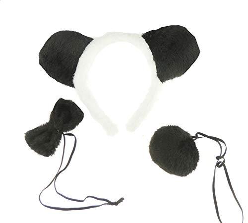 Glamour Girlz - Fascia per capelli e accessori per la coda (Panda)