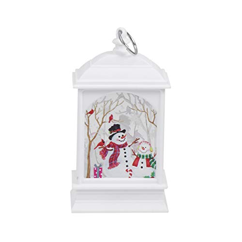 OSALADI Christmas light lantern ornaments craft decorative light lamp hanging decoration without battery.
