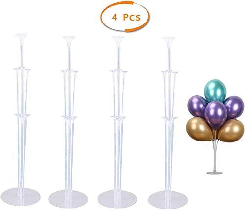 4 Juegos de Kit de Soporte de Globo Transparente, para Decoración de Boda Cumpleaños Fiesta Celebración Accesorios de Globos
