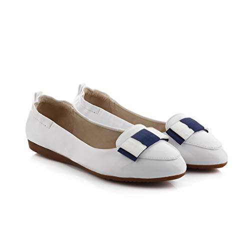 Zapatos De Punta Redonda para Mujer Zapatos Planos De Derby Poco Profundos Británicos Zapatos De Oficina Sencillos Mocasines De Cuña Resistentes Al Desgaste
