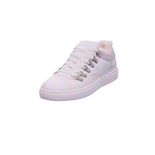 SOCCX Damen Low-Cut Sneaker mit Faux-Fur-Einschlupf