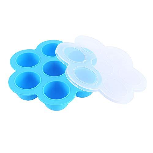 Romote Egg Bites Mold beweglicher Silikon-Instant-Pot Wiederverwendbare Druck Moulds Cooker Multi Verbrauch Babynahrung Gefrierschrank Küchenhelfer Blau