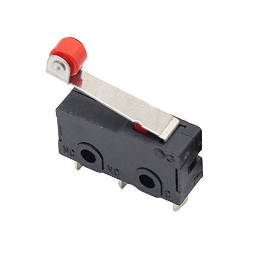 Flushzing 20pcs Limit Switch Roller Mini Micro Limit Switch CNC CNC Router Grenzwert Router 3D Drucker Hebel Arm Switch KW12