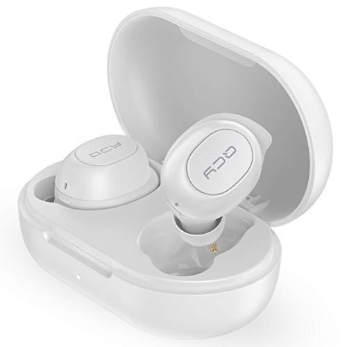 QCY T9 ワイヤレスイヤホン Bluetooth5.0 スポーツ ランニング 完全ワイヤレス ブルートゥース イヤホン bluetooth イヤホン ワイヤレス イヤホン ヘッドセット 両耳 片耳 タッチ型 イヤーフック 防水 自動ペアリング カナル型 マイク付き 通話 長時間 スマホ iPhone Android 対応