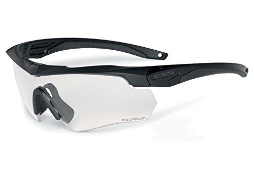 ESS Gafas de Sol Ballesta surpressor uno Negro con Lente Transparente ee9007–04