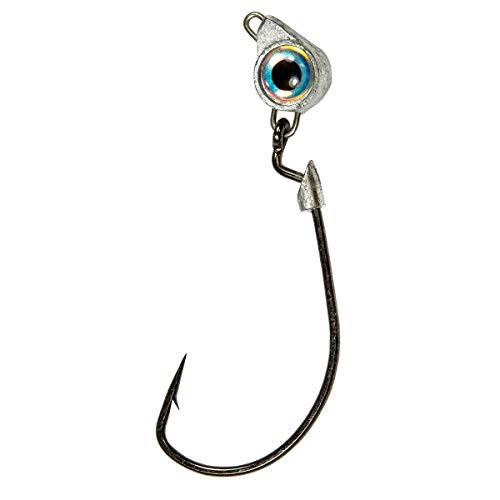 Z-MAN Z-man, Texas Eye Jighead, Freshwater/Saltwater, 3/16 oz, 3/0 Hook, Pearl, Package of 3 (TXJH316-02PK3)