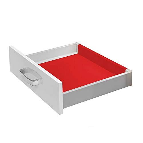 Boden und Rückwand - Set für Modern Box | niedrig (84mm) | Breite 600 mm | Farbe grau | zum Selbstzuschnitt | vorkonfektioniert | Schubladenboden Schubladenrückwand