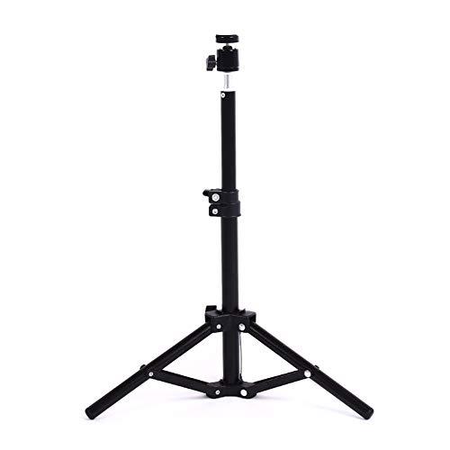 """Aprettysunny Treppiede Professionale per Fotocamera Treppiede per Cellulare 50 / 110cm 1/4""""Supporto per Bastone per Selfie con Vite"""