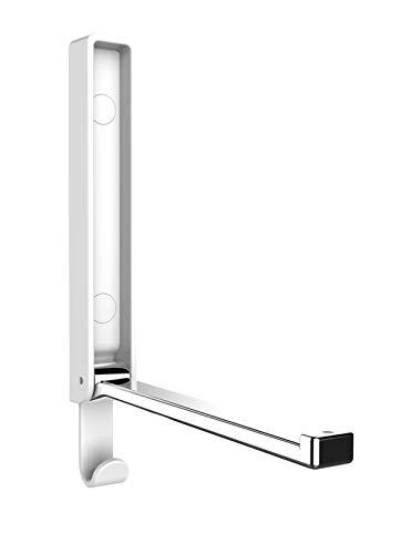 WENKO Klapphaken Basic Gamma Polarweiß - Wandhaken, Garderobenhaken, Kunststoff (ABS), 2.5 x 18 x 1.5 cm, Weiß