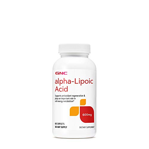 GNC Alpha-Lipoic Acid 600mg, 60 Caplets, Supports Antioxidant Regeneration and Cell Energy Metabolism