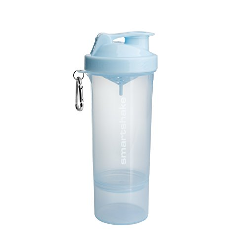 Smartshake SLIM, 17 oz Shaker Cup, Ice Blue (Packaging May Vary)