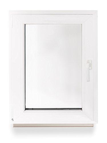 Kellerfenster Kunststoff Fenster Dreh Kipp 50 x 60 cm / 500 x 600 mm Winkhaus Beschlag Isolierglas DIN Links