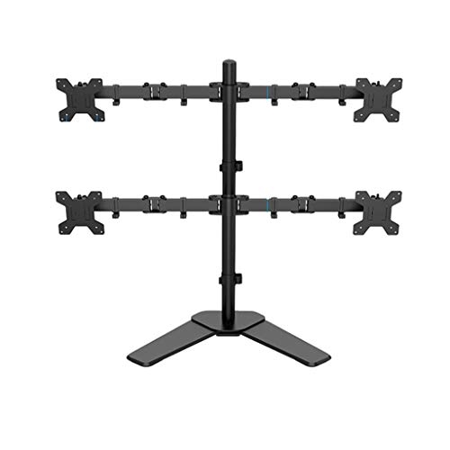Dubbele Monitor Mount Arms 360 graden draaien Dual Screen Display Bracket Table Clamp Type Gratis Lifting Monitor Holder (Color : Black, Size : B)