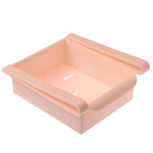 tJexePYK Frigorífico Tire de contenedores de plástico Cocina Nevera de Almacenamiento en Rack refrigerador Cajón bajo el Estante Organizador Cesta Espacio Organización de Ahorro
