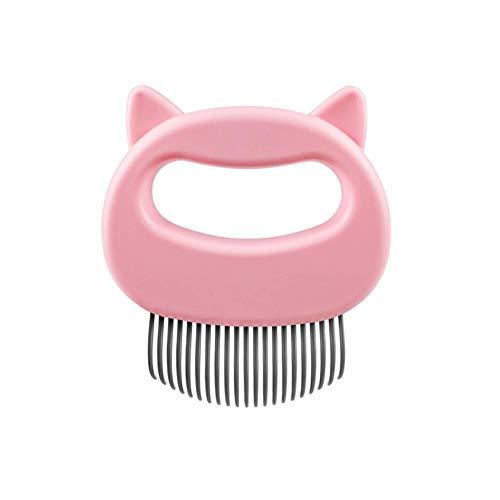 Yodio HundebüRste KatzenbüRste Klebrige Perlenmassage Katzenkamm Selbstreinigender Nadelkamm FüR Haustiere Reinigung Der Tierhaare Mit Einem klick In Der BüRste (pink)