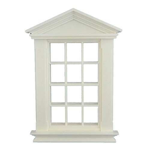 Melody Jane Puppenhaus Kunststoff Weiß Georgischer Fenster Rahmen 12 Scheibe 1:12 Maßstab Heimwerker Bauarbeiter