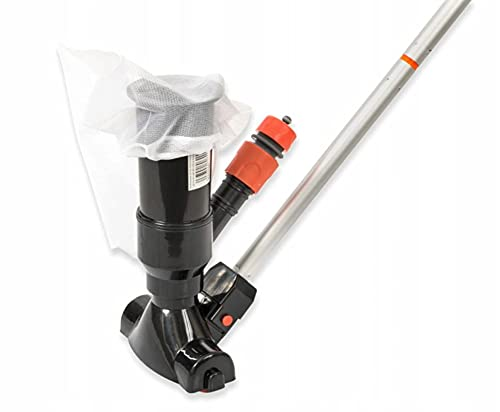 DIASA Kit Limpiafondos barredora Venturi para minipiscinas con Bolsa recogetodo. Incluye pértiga 5 tramos 1,20 MTS