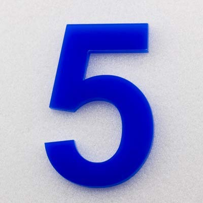 Hausnummer Hochglanz Acryl Blau RAL: 5H01 - Türnummer - Post Nummer - Plexiglas