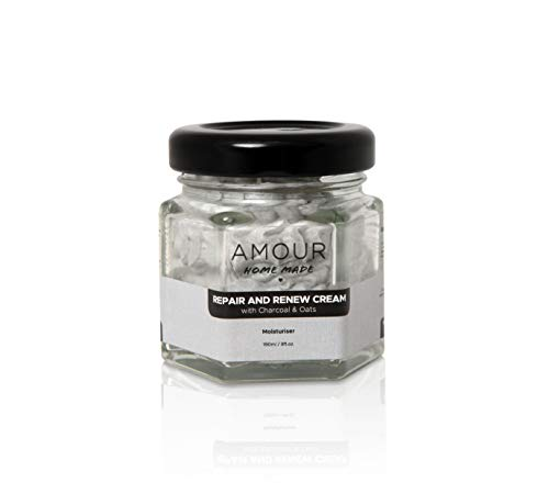 Charcoal And Oats Renew and Repair Cream | Acne Healing | Restore Hydration | Enhanced Complexion | Remove Redness | Brighten and Rejuvenate