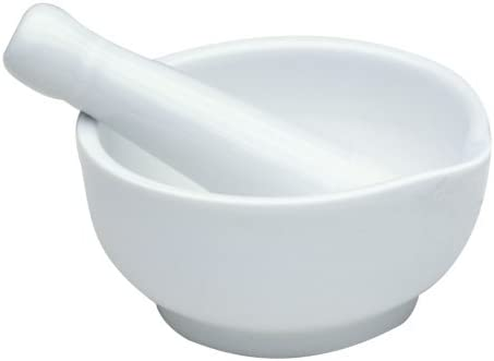 Norpro Porcelain Mortar Pestle 4in x Selling and selling 2.5in overseas White 6cm 10cm